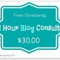 1 Hour Blog Consult Coupon with Julie DeNeen